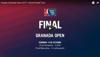 Finales World Padel Tour Granada 2017 en directo y online
