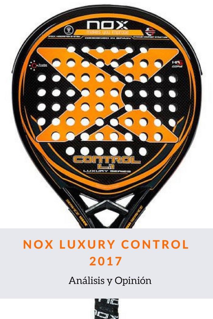 Pala de padel Nox Luxury Control 2017