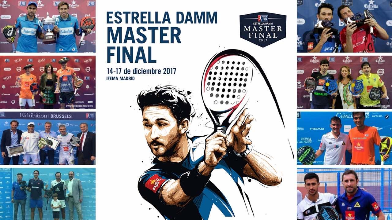 Parejas y ranking masculino Master final World Padel Tour 2017