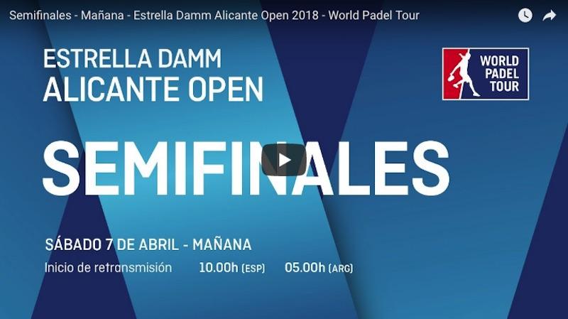 En directo y online semifinales World Padel Tour Alicante 2018