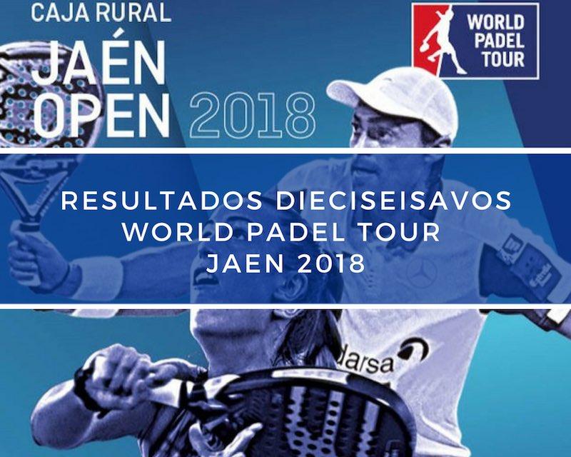 Resultados dieciseisavos de final World Padel Tour Jaén 2018