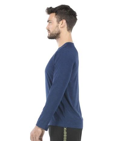 miesten paita pitkähihainen sininen 3