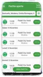 Scopri tutte le partite del Padel Modena