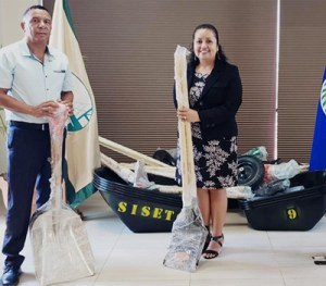 PADF hands over tools and equipment to local authorities.