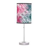 Abstract branches pink green lamp