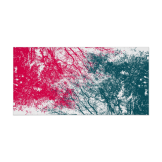 Abstract branches pink green poster