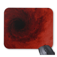 Abstract deep red mousepad
