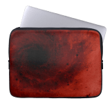 Abstract deep red vortex laptop sleeve