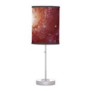 Messier 74 galaxy red tints desk lamp