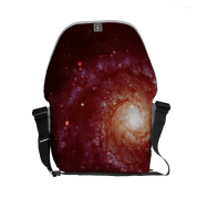 Messier 74 galaxy red tints messenger bag