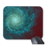 Galaxy photograph red green tints mousepad