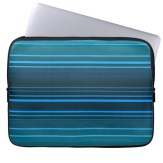 Abstract design in blue shades laptop sleeve