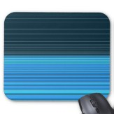 abstract horizontal lines design in blue mousepad