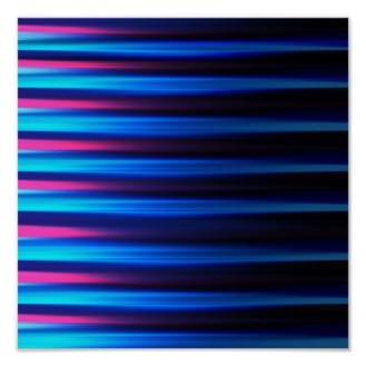 Abstract neon tones horizontal lines poster