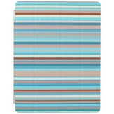 Abstract design horizontal lines in pastel colors iPad case
