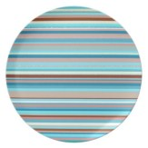 Abstract design horizontal lines in pastel colors plate