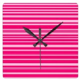 Hot and pale pink wall clock