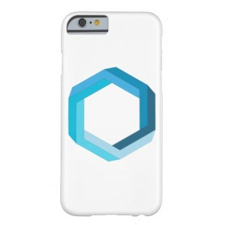 Impossible object blue hexagon phone case