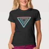 Nested impossible triangle women's tee