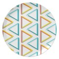 Impossible triangles pattern plate