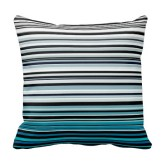 Abstract monochrome and blue pillow
