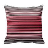 Monochrome and red abstract lines pillow