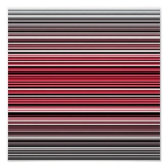 Monochrome and red abstract lines poster
