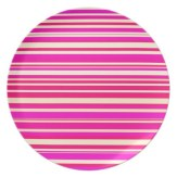Neon pink and bright yellow horizontal lines plate