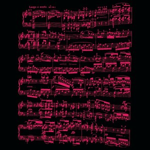 Sheet music design beethoven sonata