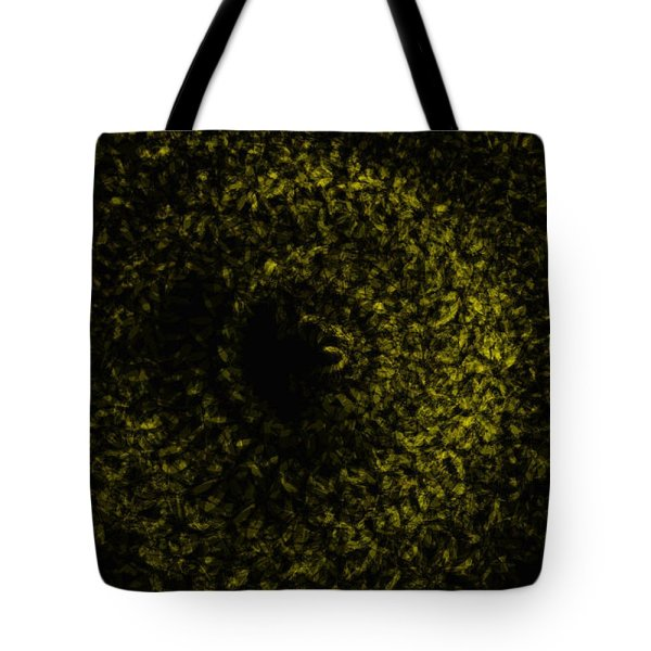 abstract dark golden swirl No.1 tote bag