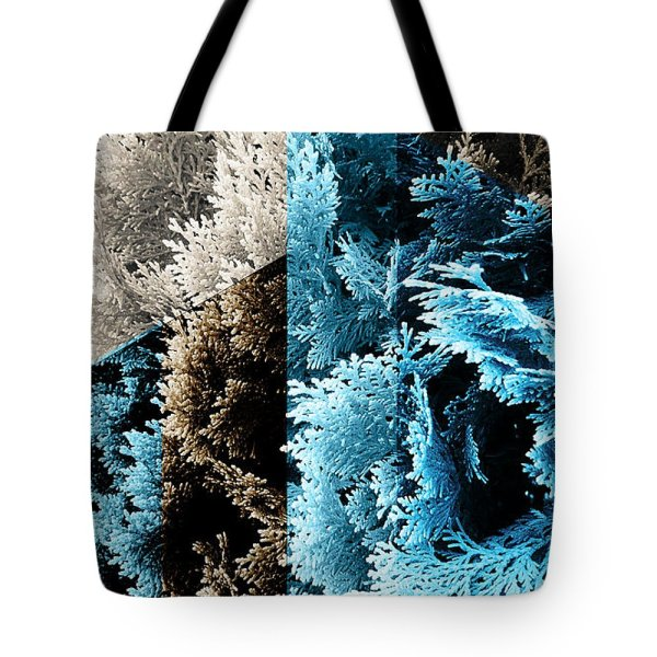 abstract geometric cypress tote bag