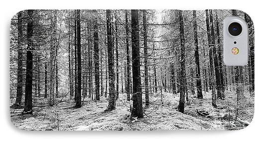 Black and white woods photograph phone case