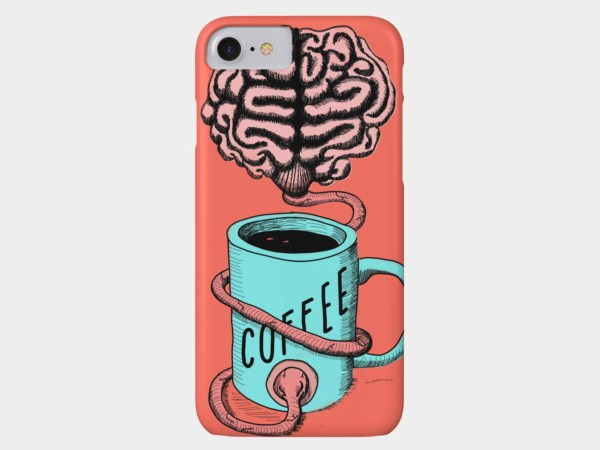 Coffee for the brain phone case
