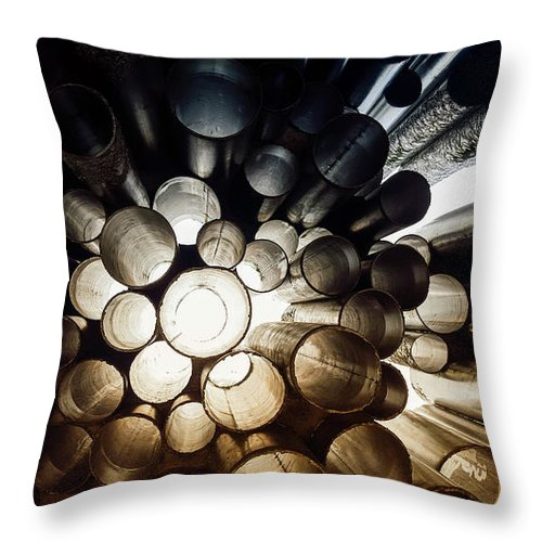 perspective circles photograph throw pillow