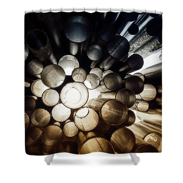 perspective circles photograph shower curtain