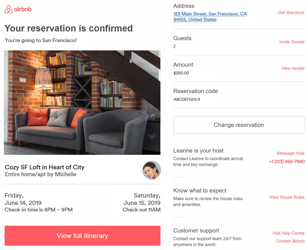 Airbnb Communications After a Confirmed Booking - Padlifter