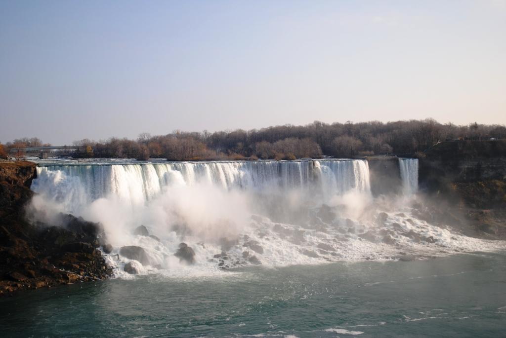 American Falls and the Bridal Veil falls