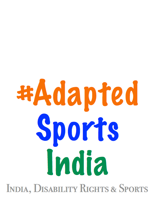 Adapted Sports India logo in Indian Flag colors