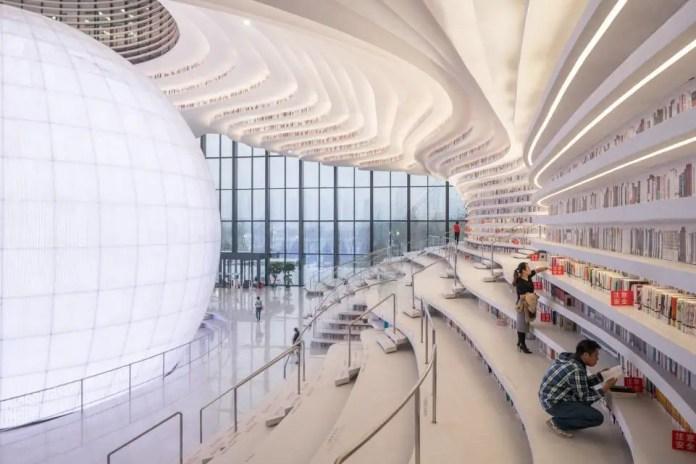 tianjin binhai biblioteca