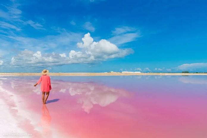 las coloradas yucatan por que el agua es rosa