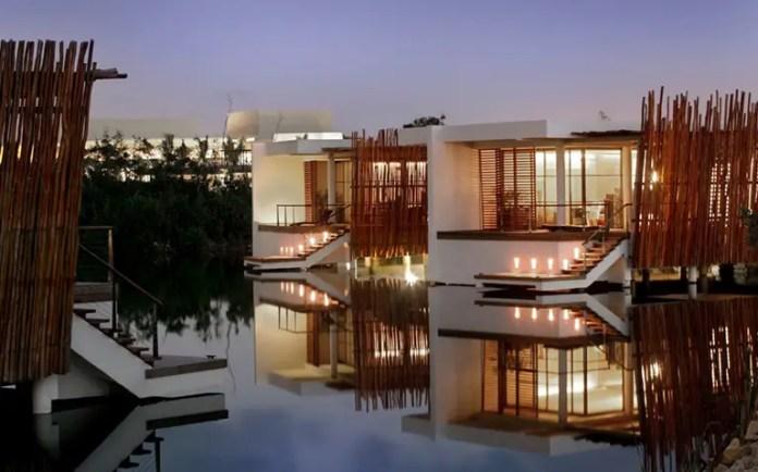 bungalows flotantes en mexico