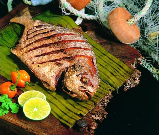 El Pescado moqueado es uno de los platos ahumados más importantes de la región