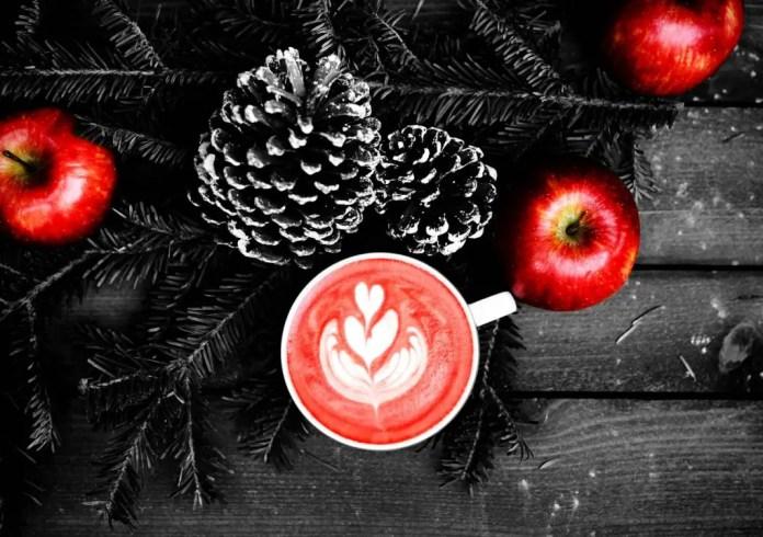 Manzanas en China para Navidad