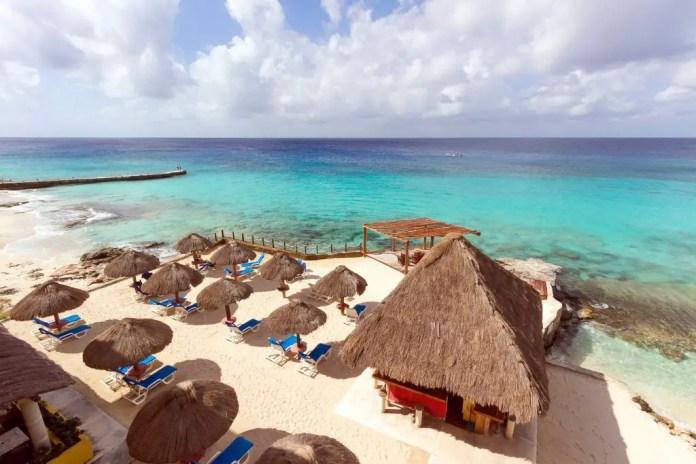 Mejores playas privadas en Cozumel: Playa Azul