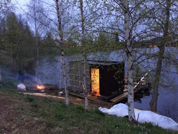 sauna flotante en suecia