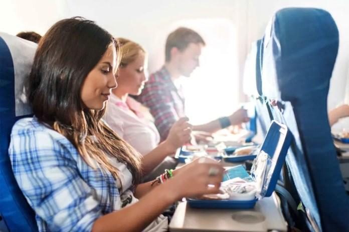 que comer en un avion