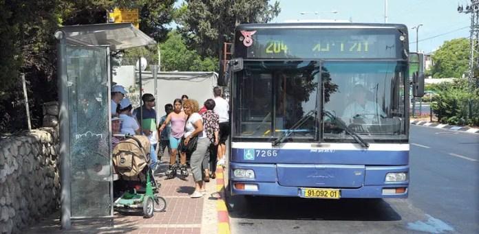 transporte publico en israel