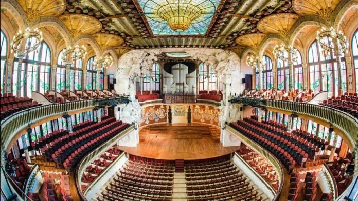 palacio de la musica catalana arquitectura