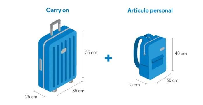Tamaño de las maletas de mano