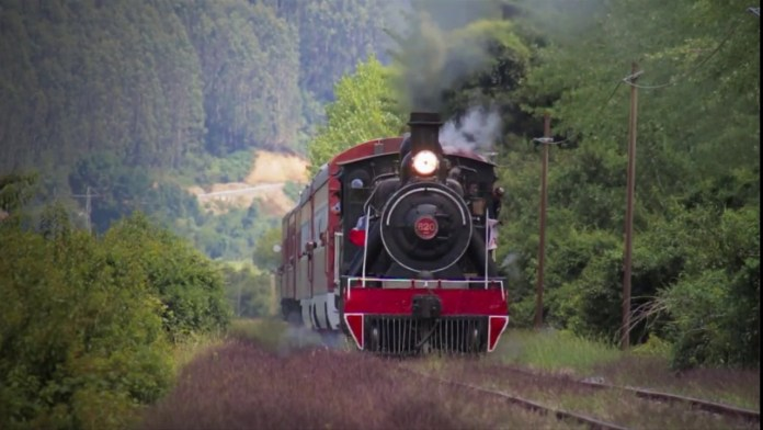 El valdiano, tren turístico en Chile